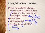 rest of the class activities