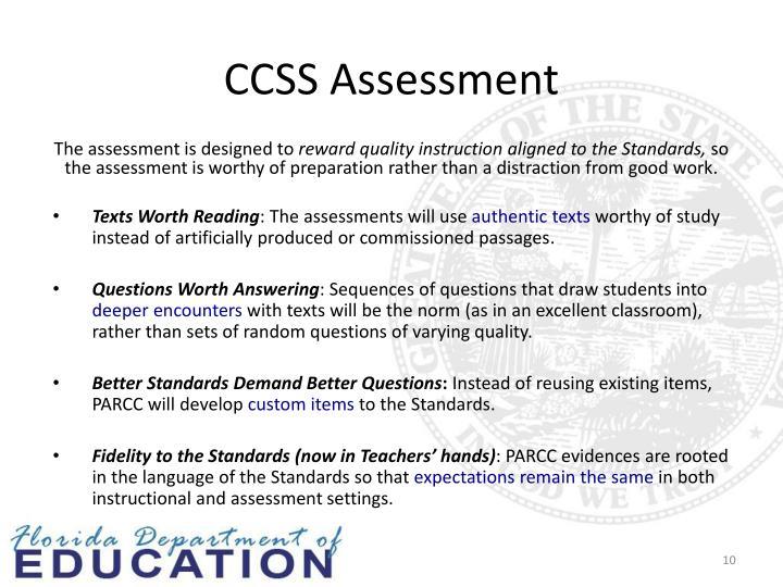 CCSS Assessment