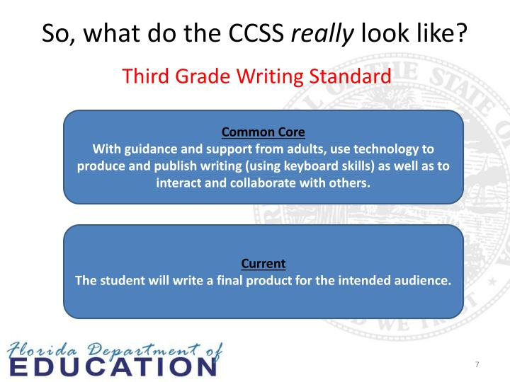 So, what do the CCSS
