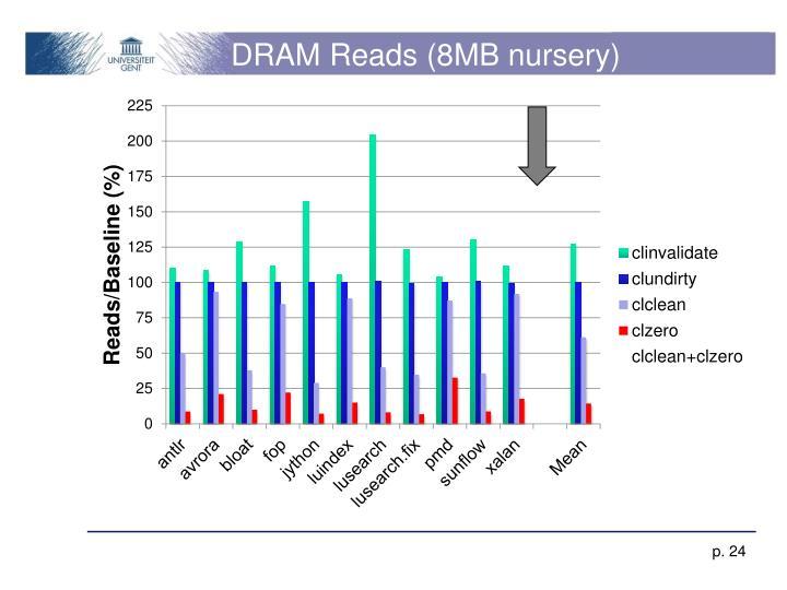 DRAM Reads (8MB nursery)
