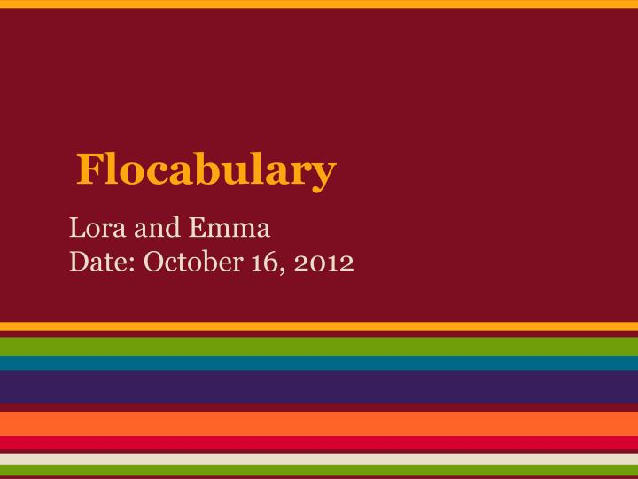 flocabulary n.