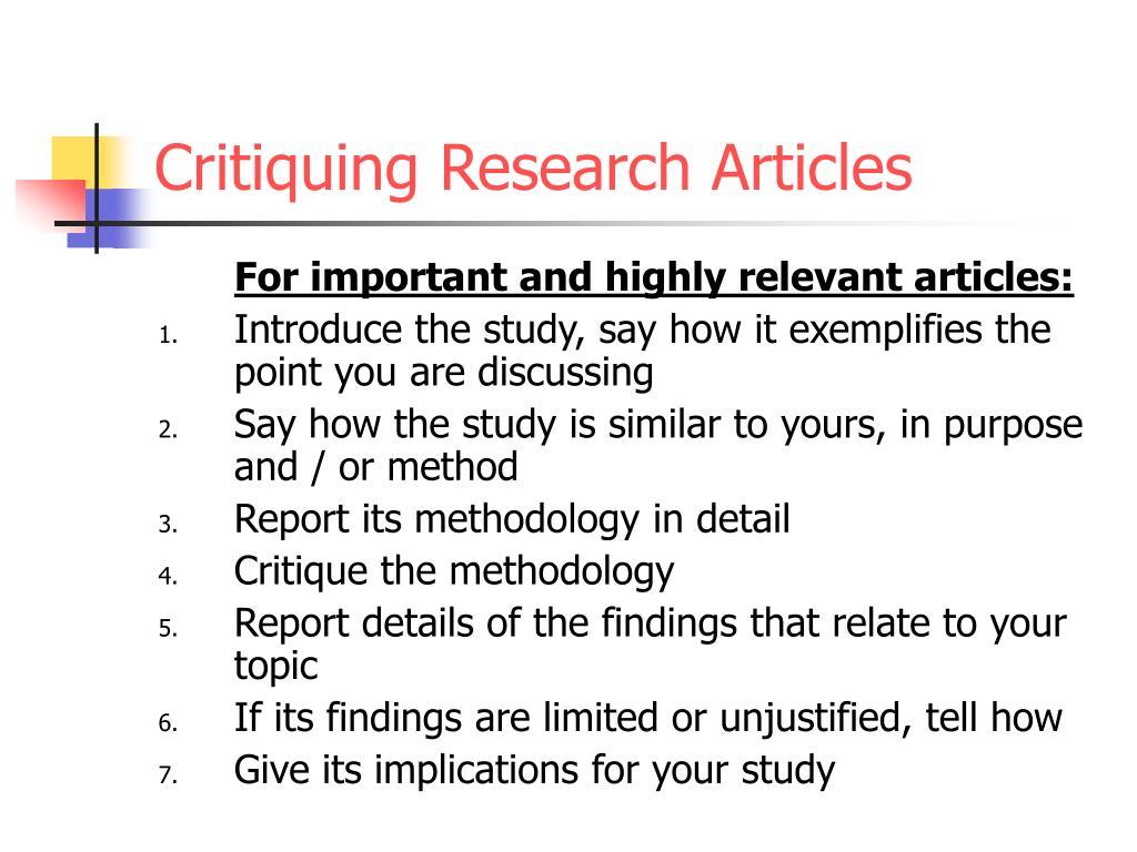 articles critique