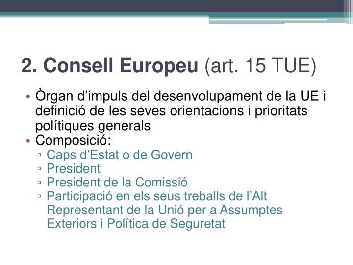2. Consell Europeu