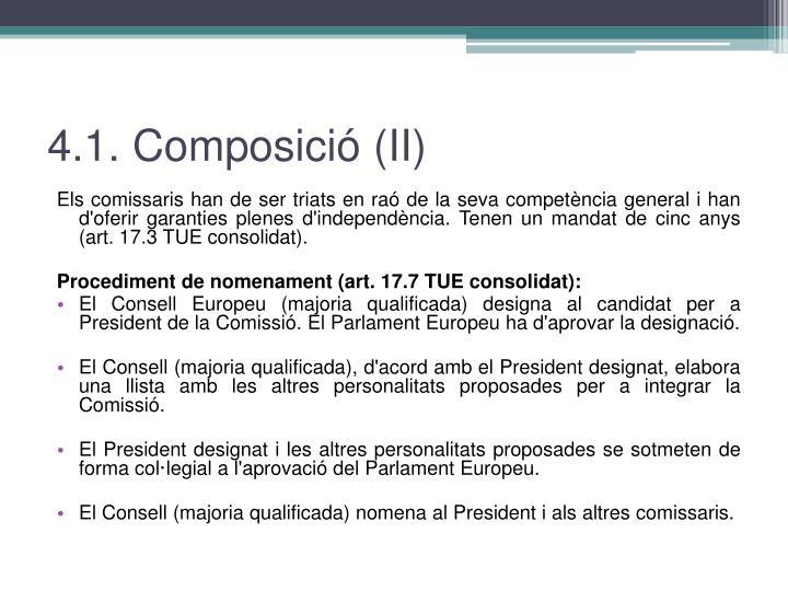 4.1. Composició (II)
