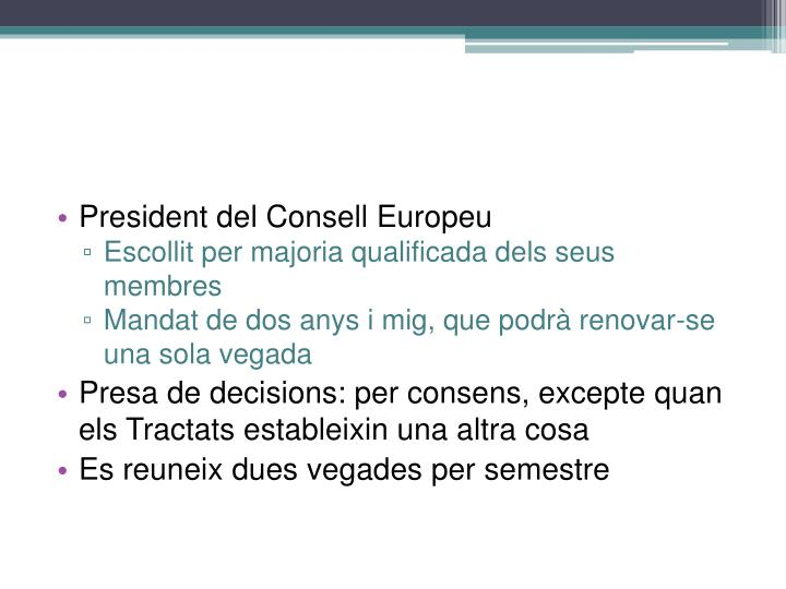 President del Consell Europeu