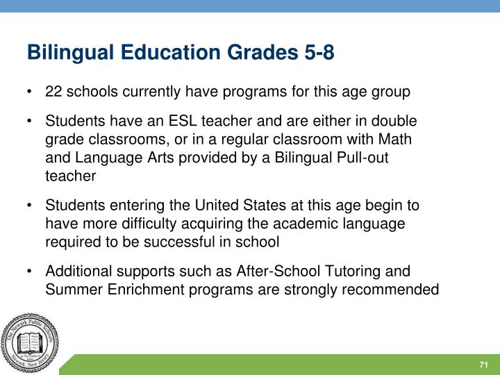 Bilingual Education Grades 5-8