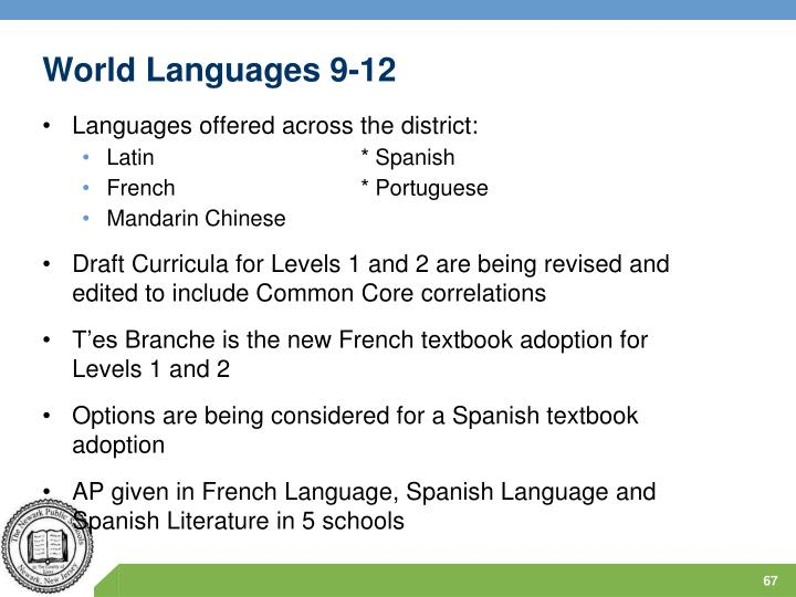 World Languages 9-12
