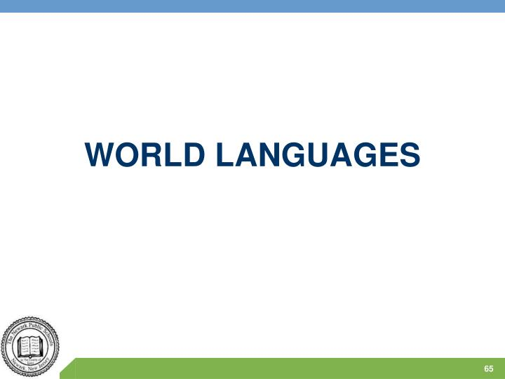 WORLD LANGUAGES