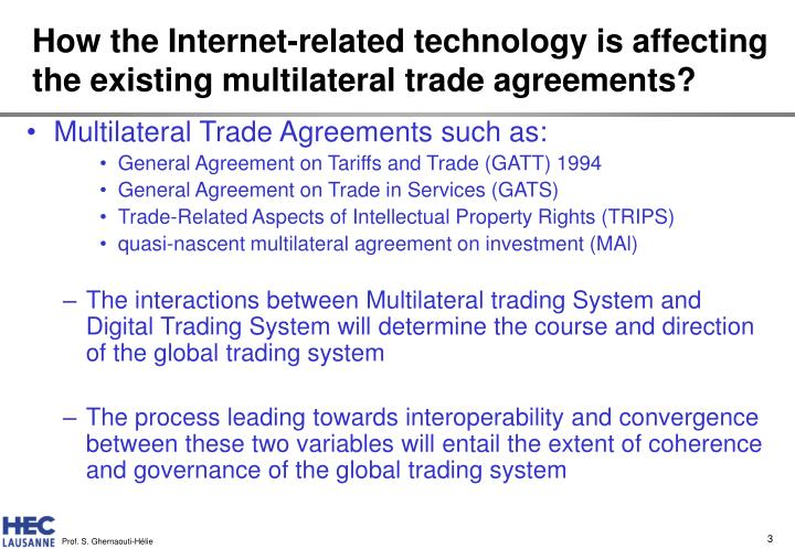 what is multilateral trade agreement pdf