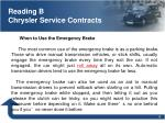 reading b chrysler service contracts1