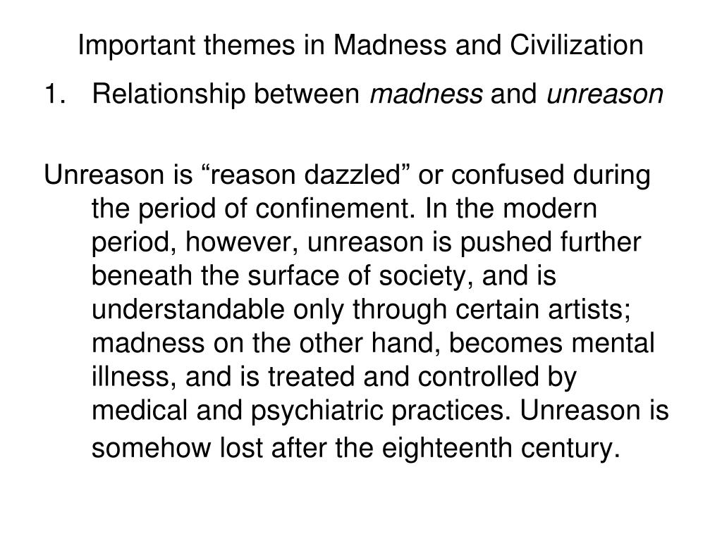 PPT - Michel Foucault (1926-1984) Madness and Civilization