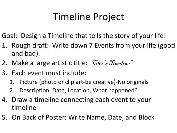 Timeline project1
