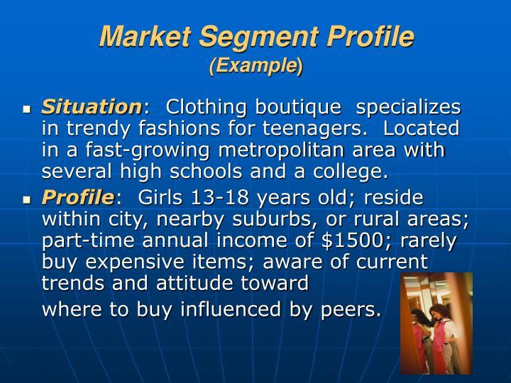 Market Segment Profile
