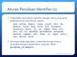aturan penulisan identifier 2