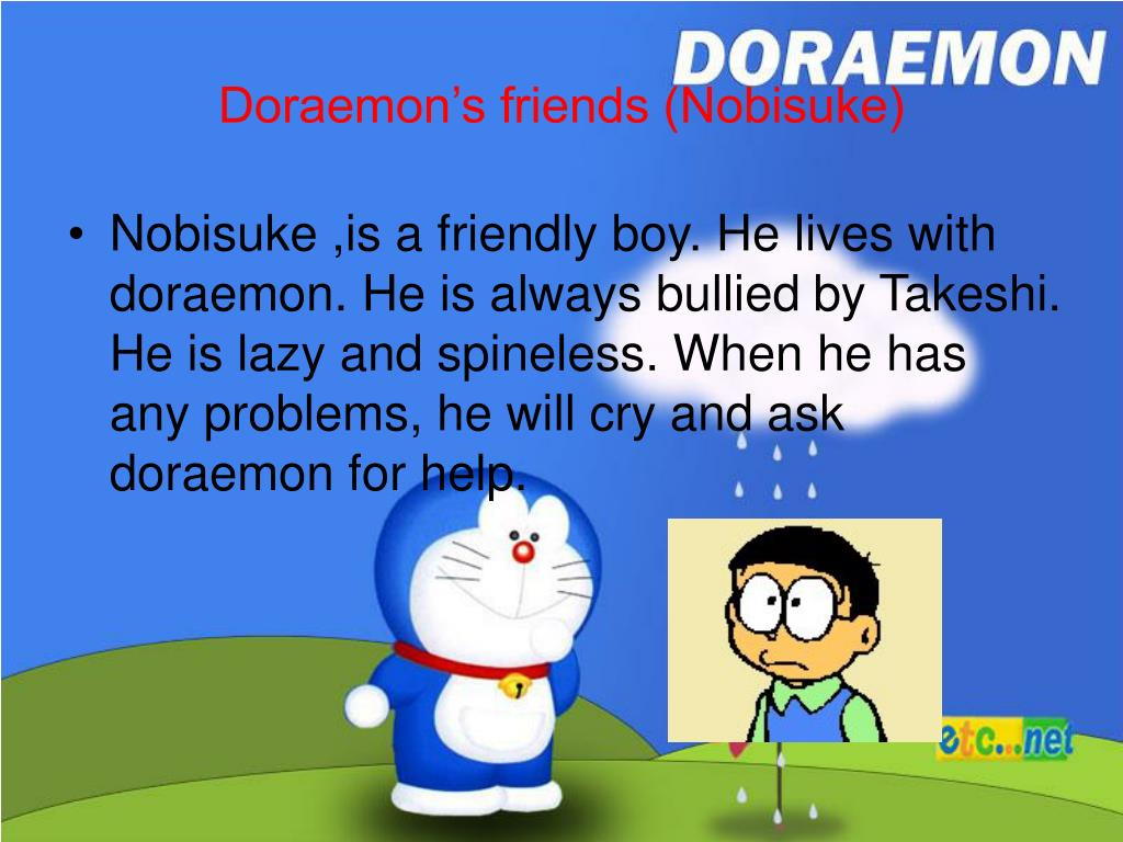 PPT - My favourite cartoon character ( doraemon) PowerPoint