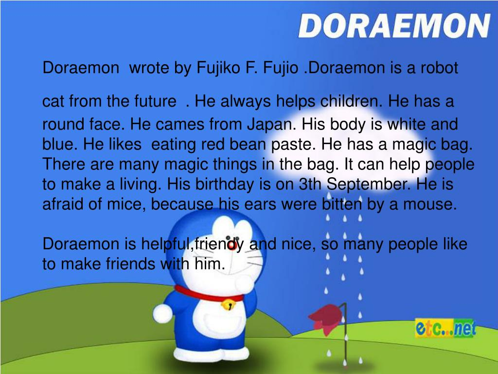 Ppt My Favourite Cartoon Character Doraemon Powerpoint Presentation Id 5380574