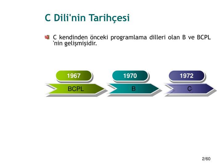 C dili nin tarih esi