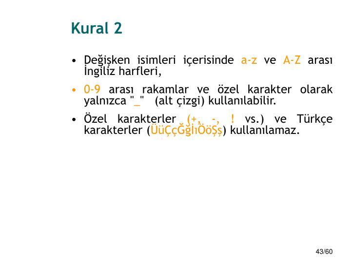 Kural 2