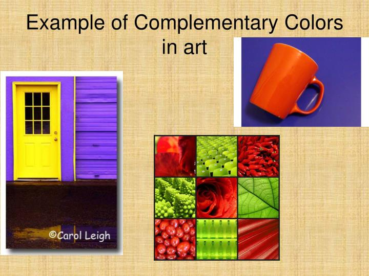 Example of Complementary Colors in art