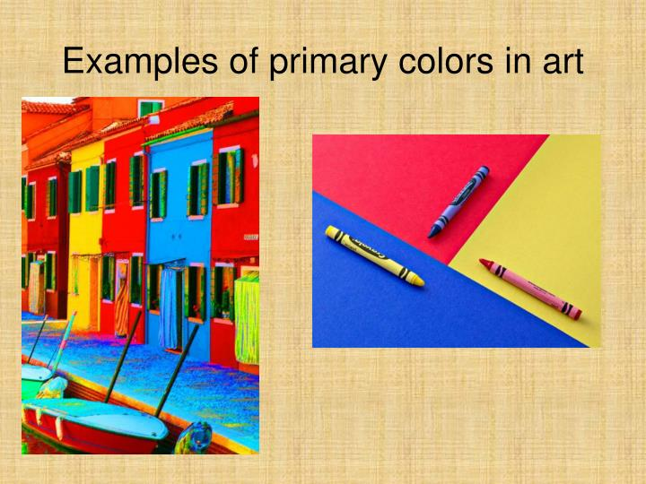 Examples of primary colors in art