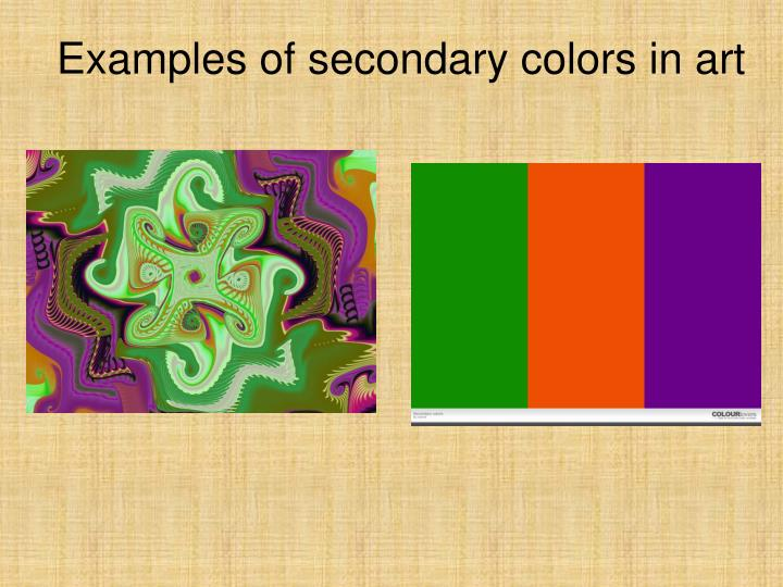 Examples of secondary colors in art