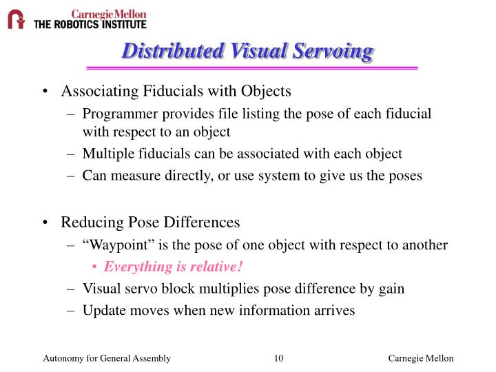 Distributed Visual Servoing