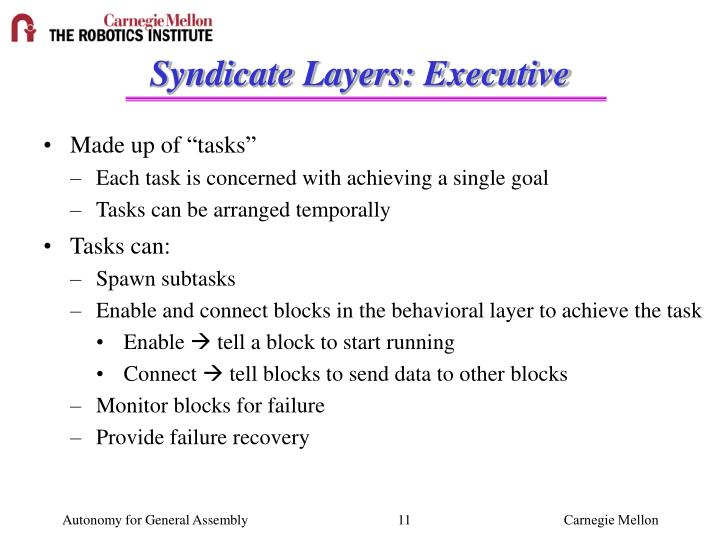 Syndicate Layers: Executive