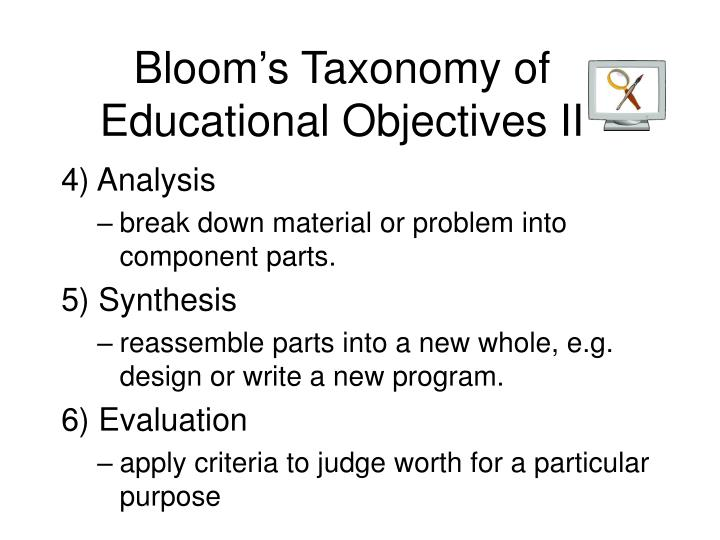 Bloom's Taxonomy of Educational Objectives II
