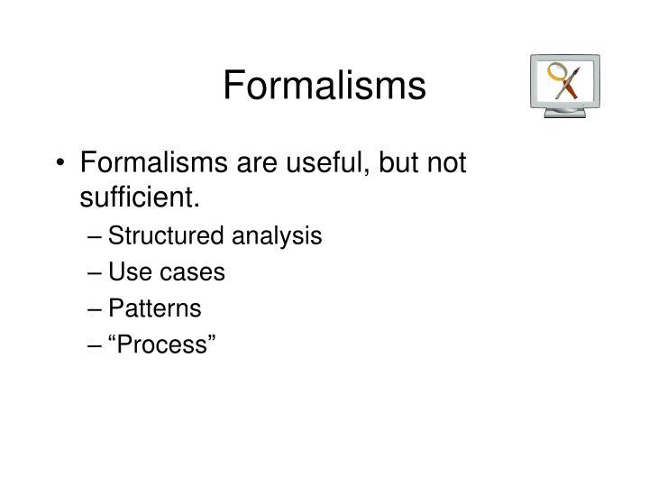 Formalisms