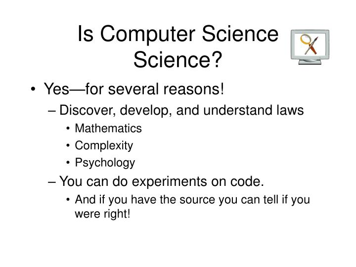 Is Computer Science Science?