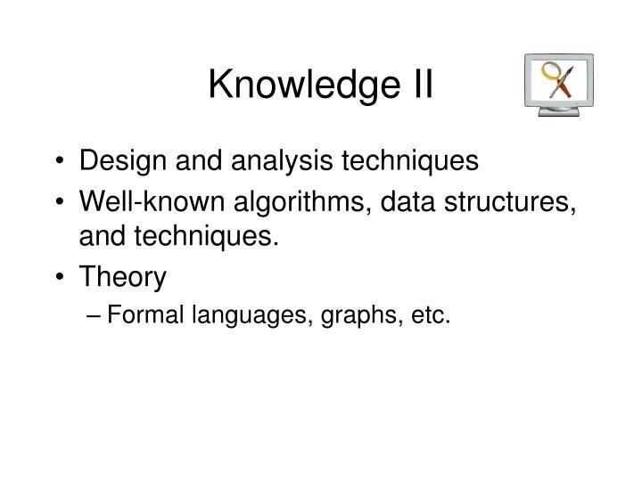 Knowledge II
