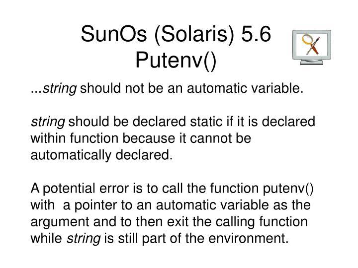 SunOs (Solaris) 5.6