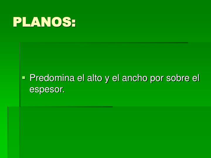 PLANOS:
