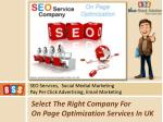 select the right company for on page optimization services in uk