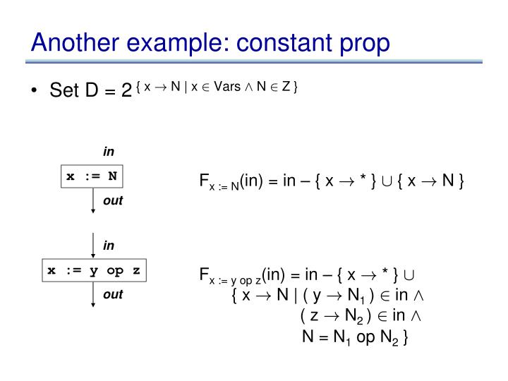 another example constant prop n.