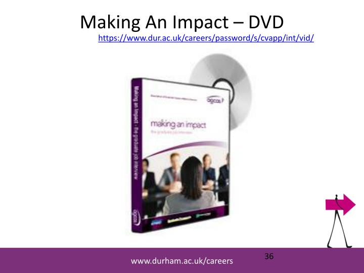 Making An Impact – DVD