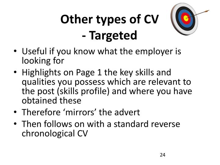 Other types of CV