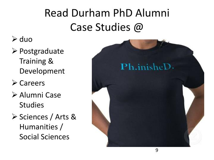 Read Durham PhD Alumni
