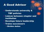 a good advisor1