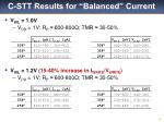 c stt results for balanced current