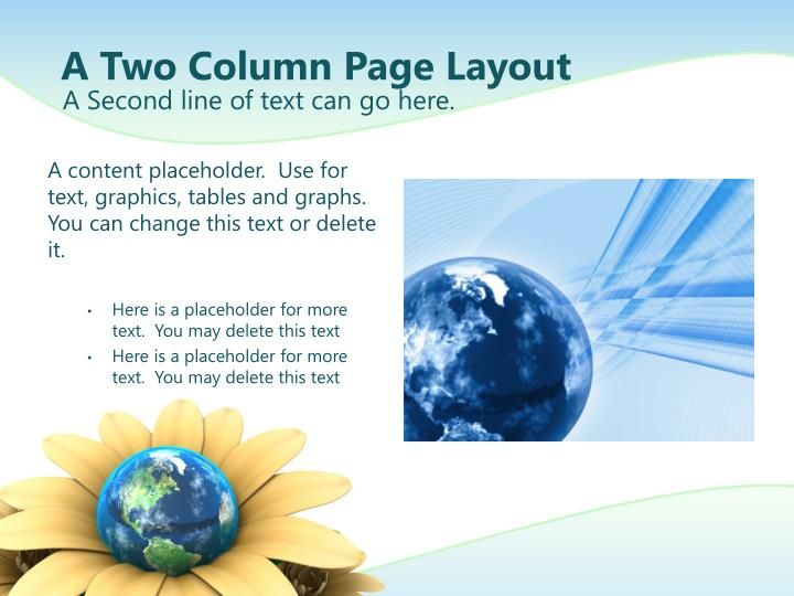 A Two Column Page Layout