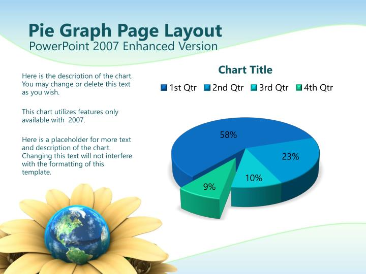 Pie Graph Page Layout