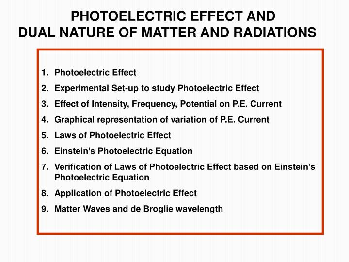Ppt – the photoelectric effect powerpoint presentation | free to.