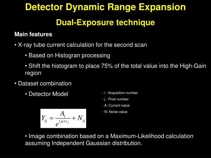 Detector Dynamic Range Expansion