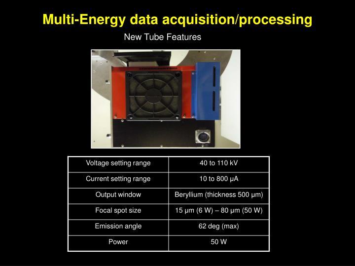 Multi-Energy data acquisition/processing