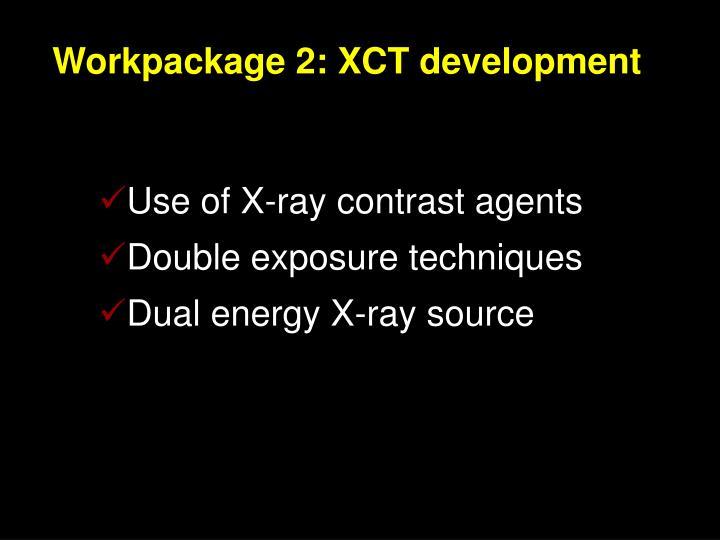 Workpackage 2 xct development