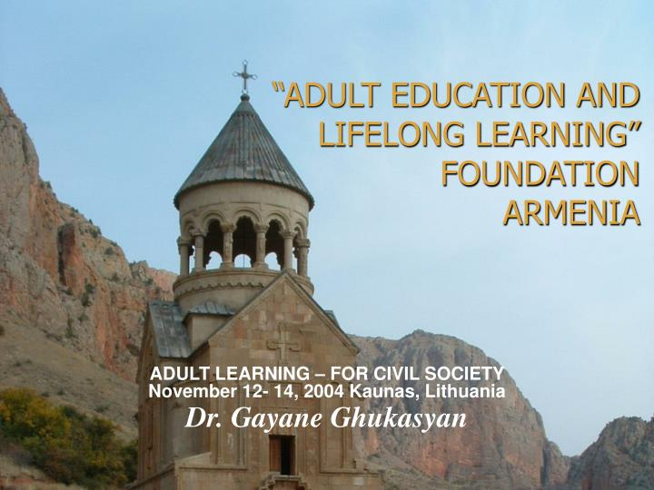 """ADULT EDUCATION AND LIFELONG LEARNING"""