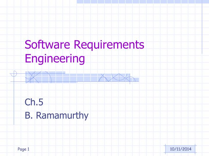software requirements engineering n.