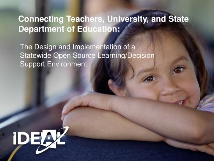 connecting teachers university and state department of education