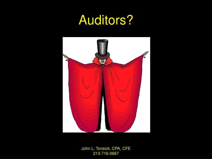 Auditors?